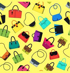 cartoon handbag or female bags background pattern vector image