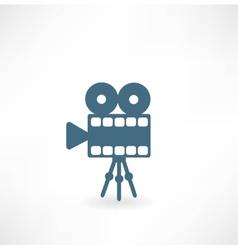 Cinema camera icon vector image