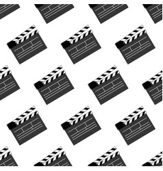 movie clap pattern vector image vector image