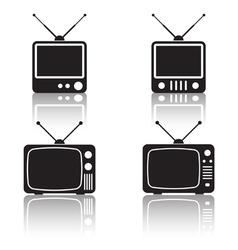 Retro TV sets collection vector image