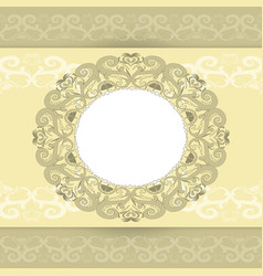 template for the greeting cards vector image vector image