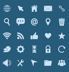 website color icons on blue background vector image vector image