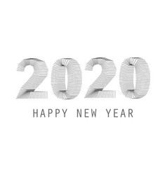 2020 happy new year thiny shape wires concept vector image