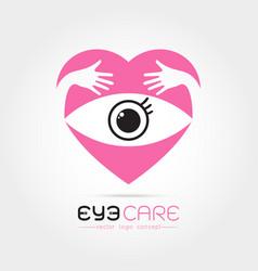 abstract human eye vector image