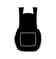 apron cartoon pinafore silhouette isolated on vector image