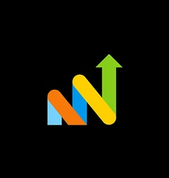 arrow grow business finance logo vector image