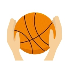 Basketball ball sport hand vector