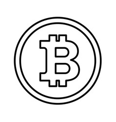 Bitcon icon outline vector