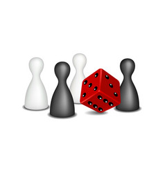 Board game figures in black and white design vector