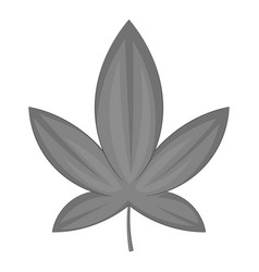 Cannabis leaf icon monochrome vector