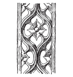 Carving is a fourteenth century vintage engraving vector