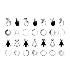 click icon with finger and cursor hand pointer vector image
