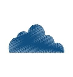 Clouds weather sky vector image