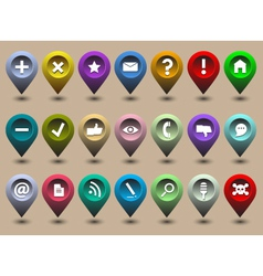 Collection different web icons vector image