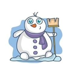 Collection of snowman cartoon Christmas vector image
