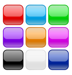 collection of square glass buttons vector image