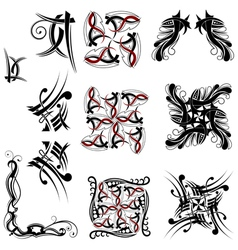Collection of Tribal elements vector image