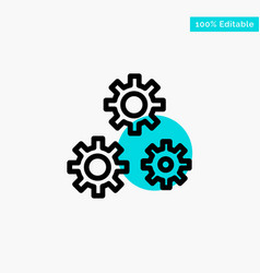 Configuration gears preferences service turquoise vector