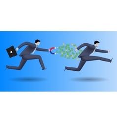 Debt collector business concept vector