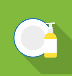 Dirty dishes flat icon for web and vector