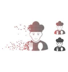 dispersed pixel halftone cook man icon vector image