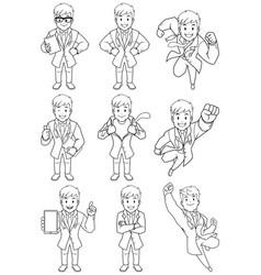 doctor line art vector image