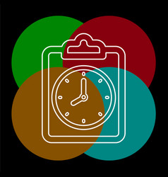 document with clock icon questionnaire vector image