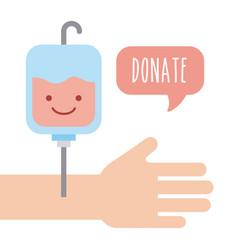 Donate children money vector
