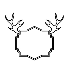 Elegant frame with horns vector