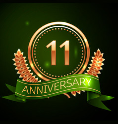 eleven years anniversary celebration design vector image