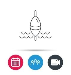 Fishing float icon Fisherman bobber sign vector