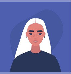 flat portrait a young millennial female vector image
