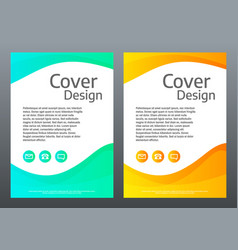 flyer design bright gradient waves on white vector image