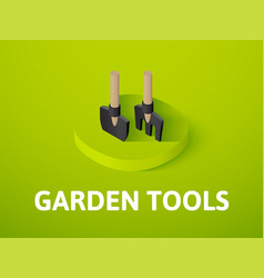 garden tools isometric icon isolated on color vector image