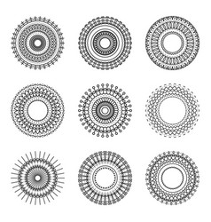 Geometry circle ethnic style pattern on white vector
