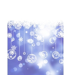 Glittery blue Christmas background EPS 8 vector image