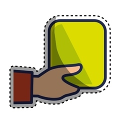 hand human with square vector image