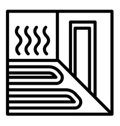 Heating floor room icon outline style vector