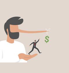 Illegal investment scam or ponzi scheme stealing vector