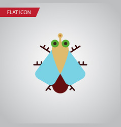 Isolated housefly flat icon tiny element vector