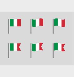 italian flag symbols set italy national flag vector image