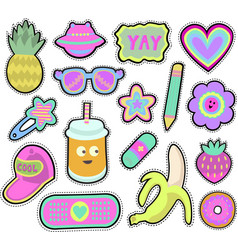 kids stickers set vector image