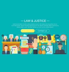 law and justice design concept with prisoner vector image