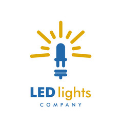 led light logo design template vector image