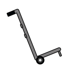 Logistic handcart cartoon vector