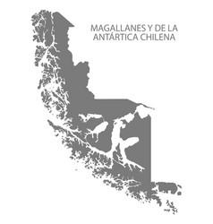 magallanes y de la antartica chilena chile map vector image