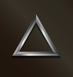 Metal silver triangle logo vector image