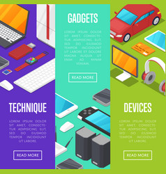 Modern gadgets and computer devices set vector