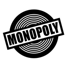 Monopoly stamp on white vector