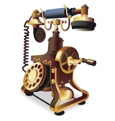 old style telephone vector image